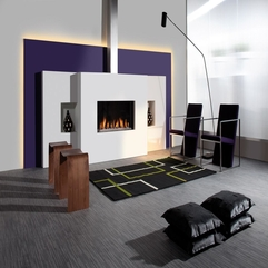 Ideas Awesome Modern White Living Room With White Fireplace And - Karbonix