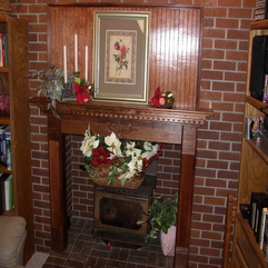 Ideas Decorating With Brick Material Fireplace Mantel - Karbonix