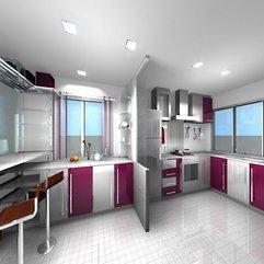 Ideas For Modern Kitchen Design Purple Colors - Karbonix