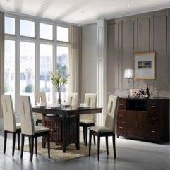 Impressive Minimalist Dining Room Decor Interior With Retro Tone - Karbonix
