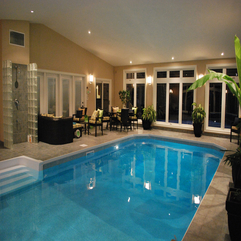Indoor Pool Beside Lounge Looks Elegant - Karbonix