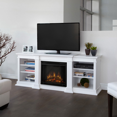 Interior Electric Fireplace Design Inspiration In White Modern Tv - Karbonix