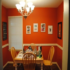 Interior Elegant Dining Room With Orange Wall Paint Ideas This - Karbonix