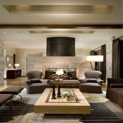 Interior Elegant Living Room Design With Awesome Brown Sofa Also - Karbonix