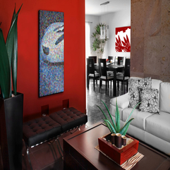 Interior Enthralling Red Wall Inspiration In Beautiful Home - Karbonix