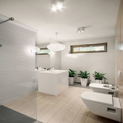 Interior Sensational Modern Bathroom With A Hint Of Green - Karbonix