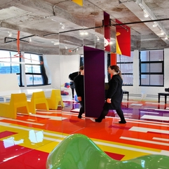 Interior Striking Colorful Mood Booster Home Interior Design - Karbonix