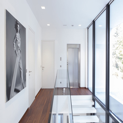 Interior Two Levels Contemporary White Home Interior Design By - Karbonix