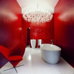 Interiors Red White Youthful Bathrooms - Karbonix