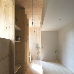 Japanese Interior With Yellow Larch Plywood Material The Ant House In Modern Style - Karbonix