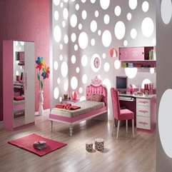 Kids Bedroom Luxury Pink Princess Bedroom With Chic Wall Clock And - Karbonix
