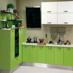 Kitchen Cabinet Green Painting - Karbonix