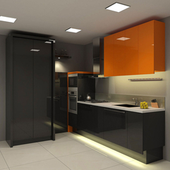 Kitchen Cabinets Apartment Black - Karbonix