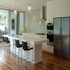 Kitchen Counter Breakfast Bar Design By Hanex In Modern Style - Karbonix