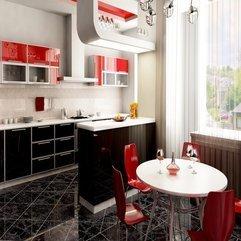 Kitchen Ideas Dazzling Red - Karbonix