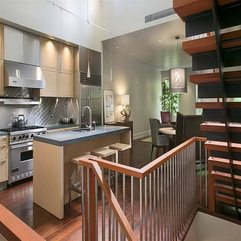 Kitchen Walls With Wood Stairs Color - Karbonix