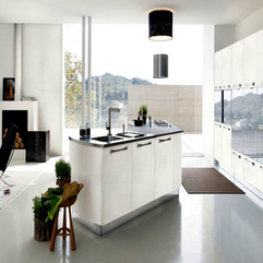 Kitchen Zinc With Rounded Contemporary Chandelier Create Glamor Style - Karbonix
