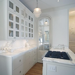 Kitchens With Glass Door All White - Karbonix