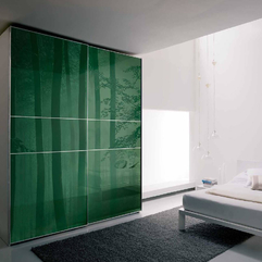 Best Inspirations : Landscape Green Glass Wardrobe With Gray Fur Rug Modern Forest - Karbonix