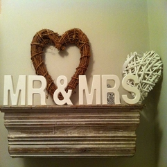 Letters Wedding Wooden - Karbonix