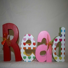 Library Wooden Letters - Karbonix