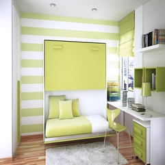 Lime White Stripes Bed Room In Green - Karbonix
