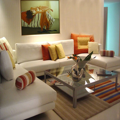 Living Room Decoration With Orange Accent Nice White - Karbonix