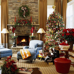 Living Room Design On Christmas Day Looks Elegant - Karbonix