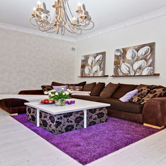 Living Room Design With Purple Carpet Scandinavian Style - Karbonix