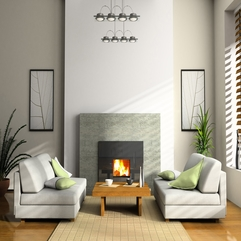 Living Room Magnificent Stone Fireplace With Amazing Gray Sofa - Karbonix