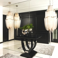 Living Space With Black Stylish Table Exotic Idea - Karbonix