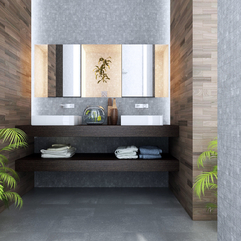 Luxurious Bathroom Design Renovation With New Tiles Picture - Karbonix