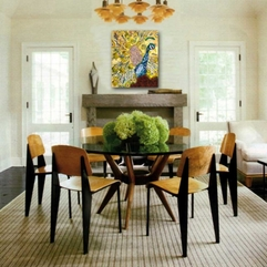 Luxurious Dining Room Table Design With Centerpiece And Wall Art - Karbonix