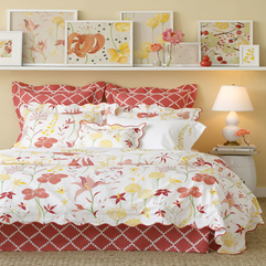 Luxury Chic Red And White Fower Bedding Design Ideas Luxury - Karbonix