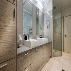 Luxury Neutral And Wooden Bathroom Design For Combination Of - Karbonix