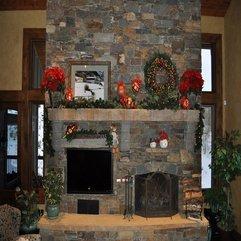 Mantel Stone Fireplace - Karbonix