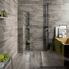 Minimalist Grey Tiles Living Room Esthetic - Karbonix