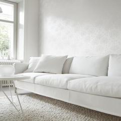 Minimalist White Sofa And Interior Design White Walls Brotherbangun - Karbonix