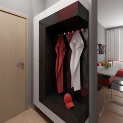 Modern Apartment Design With Red Interior Ideas From Studio - Karbonix