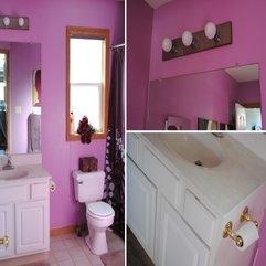 Modern Bathroom Small Bathroom Design In Pink Color Bathroom - Karbonix