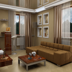 Modern Brown Living Room In Modern Style - Karbonix