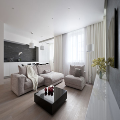 Modern Living Room Interior Design In Apartment Fodorova - Karbonix