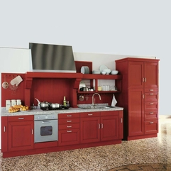 Modern Red Kitchen Cabinets Attractive Red Kitchen Unique And - Karbonix