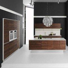 Modern White Brown Kitchen Best Design - Karbonix