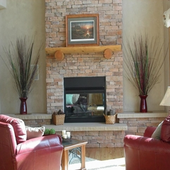 Natural Ledgestone Fireplace From Earthstone Products LLC In Fort - Karbonix