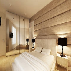 Neutral White Textured Bedroom Wall In Modern Style - Karbonix