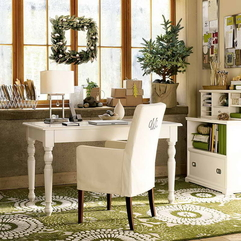 Best Inspirations : Office Desk At Work With White Decorating An - Karbonix