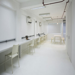 Office Space Designs Ideas In White Spacious Futuristic Style - Karbonix