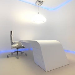 Best Inspirations : Office With White Futuristic Style Hidrosalud Headquarters - Karbonix
