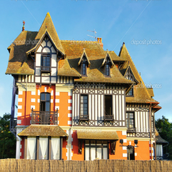 Old French Architecture Retro Styled Picture Stock Image - Karbonix